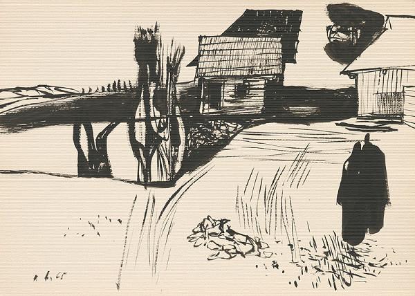 Vincent Hložník - Kresba z Oravy LVII.