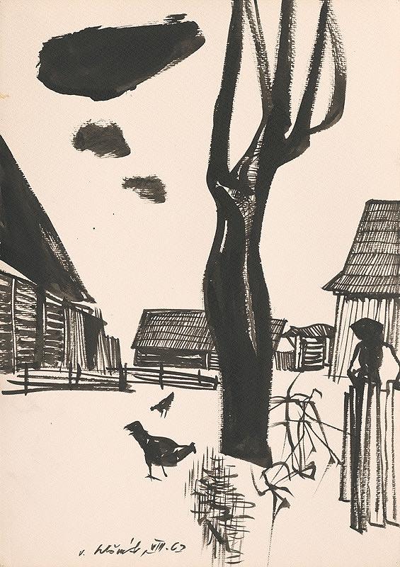 Vincent Hložník – Kresba z Oravy LX.