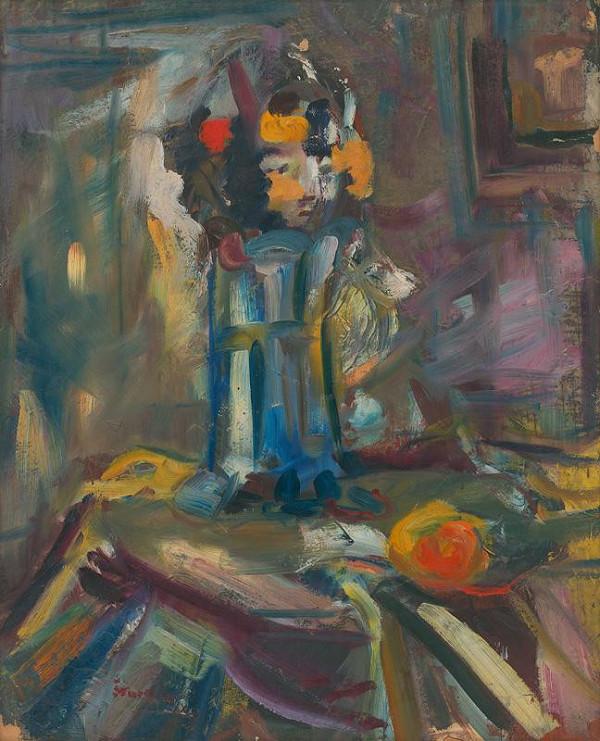 Jozef Šturdík - Zátišie s jablkom