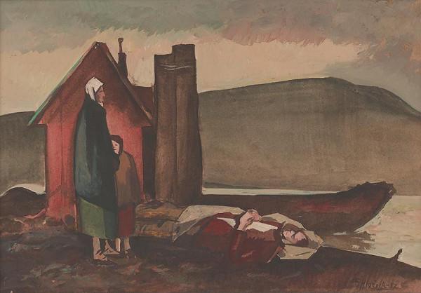 Ferdinand Hložník – Nad mŕtvym partizánom
