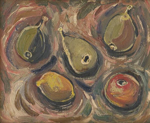 František Studený - Zátišie s ovocím