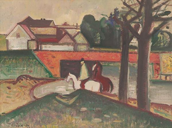 Ferdinand Hložník - Brodenie koní