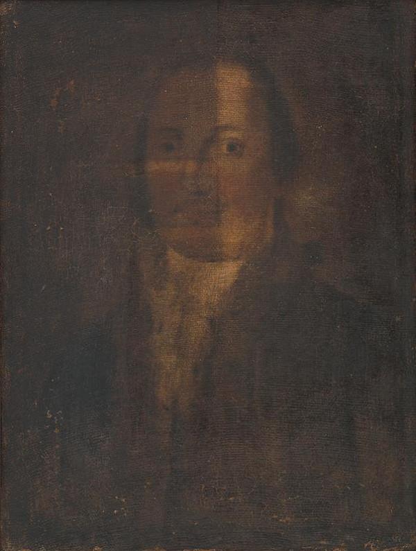 Neznámy autor - Portrét muža s bielou mašlou