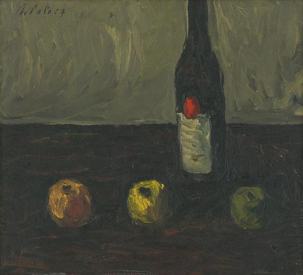 Ján Paľo – Zátišie s jablkami