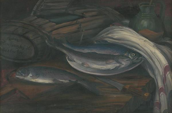 Ondrej Ivan - Zátišie s rybami