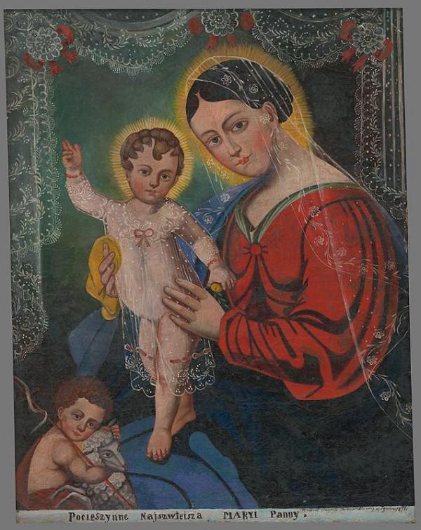 Wincenty Chrząstkiewicz - Madona s Ježiškom a Jánom Krstiteľom