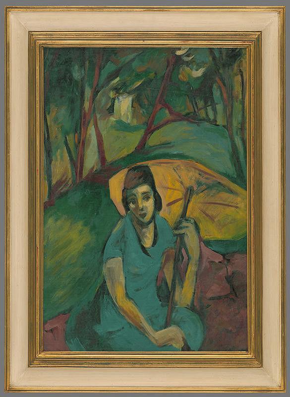 Eugen Nevan – Žena so žltým dáždnikom
