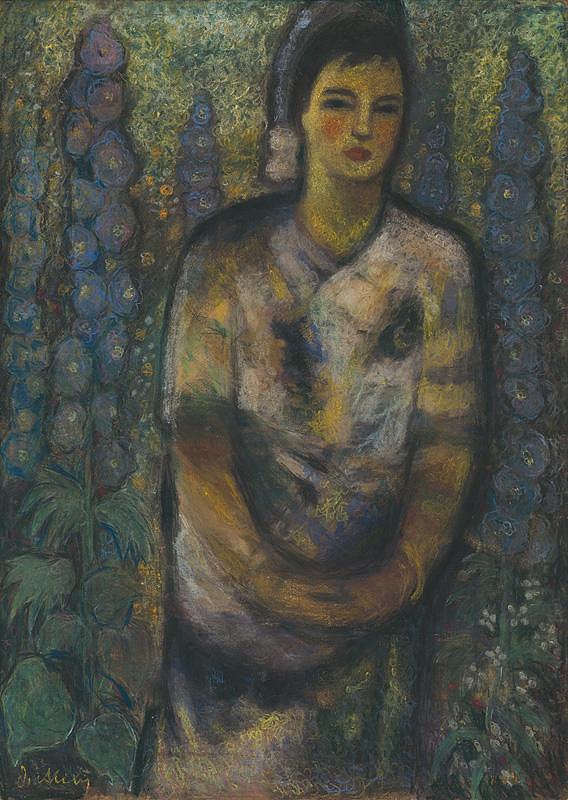 Janko Alexy - Dievča medzi kvetmi