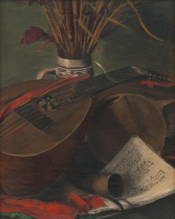 Emil Ballo - Zátišie s mandolínou