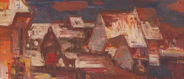 Mária Medvecká – Zasnežené strechy