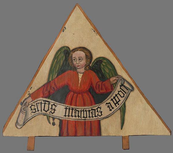Neznámy autor – Fragment oltára-atribút evanjelistu