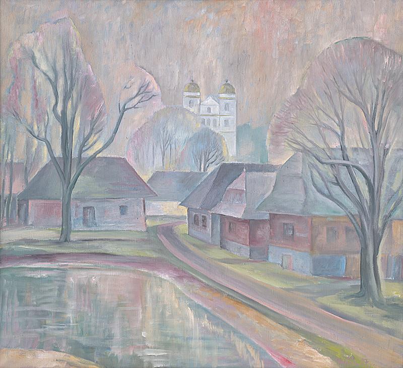Ignác Kolčák – Spomienka na Slanicu, 1987, Oravská galéria
