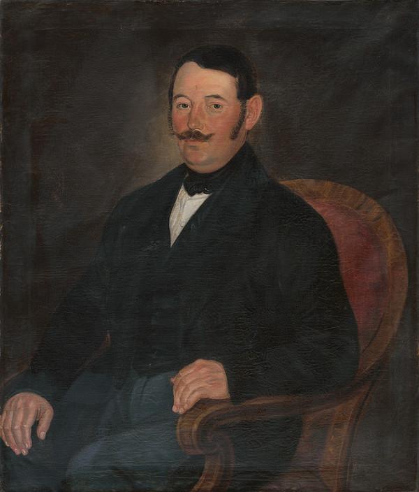 Slovenský maliar z 2. polovice 19. storočia - Portrét muža v kresle