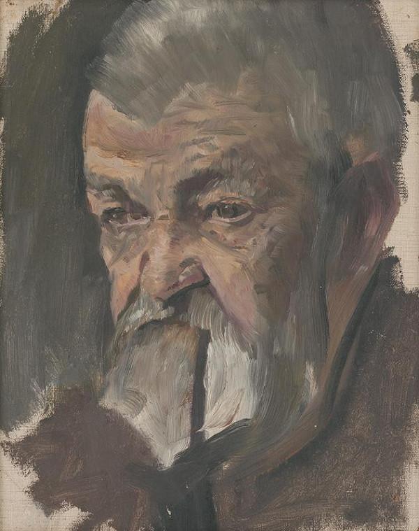 Ladislav Mednyánszky - Štúdia autoportrétu (?)