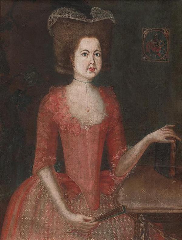 Slovenský maliar z 2. polovice 18. storočia - Podobizeň Žofie Hellenbachovej