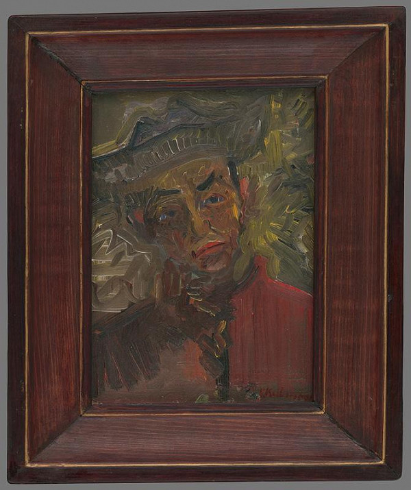 Arnold Peter Weisz-Kubínčan – Portrét muža-autoportrét