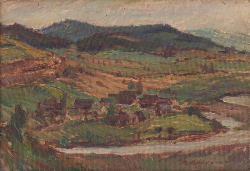Mária Medvecká – Ľavkovo pred zatopením, 1951, Oravská galéria v Dolnom Kubíne