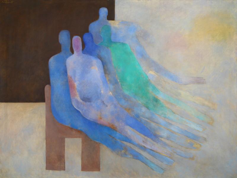 Milan Paštéka – Modré čakanie, 1988, Oravská galéria