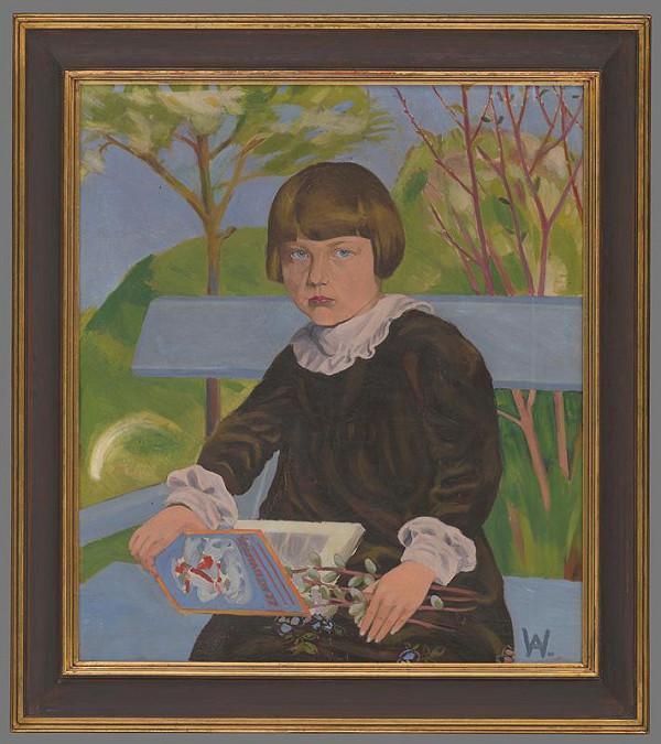 Arnold Peter Weisz-Kubínčan - Portrét dievčaťa - Vierky Gacekovej