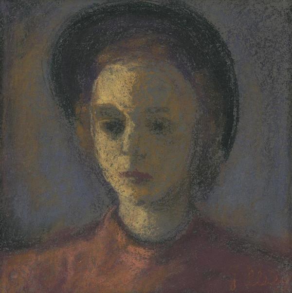 Janko Alexy – Portrét dámy včiernom klobúku