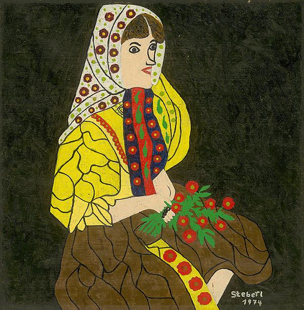Ondrej Šteberl – Žena s kyticou