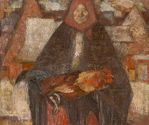 Mária Medvecká - Žena s kohútom