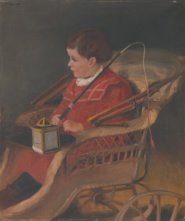 Alexander Kubínyi - Podobizeň chlapca v kočíku