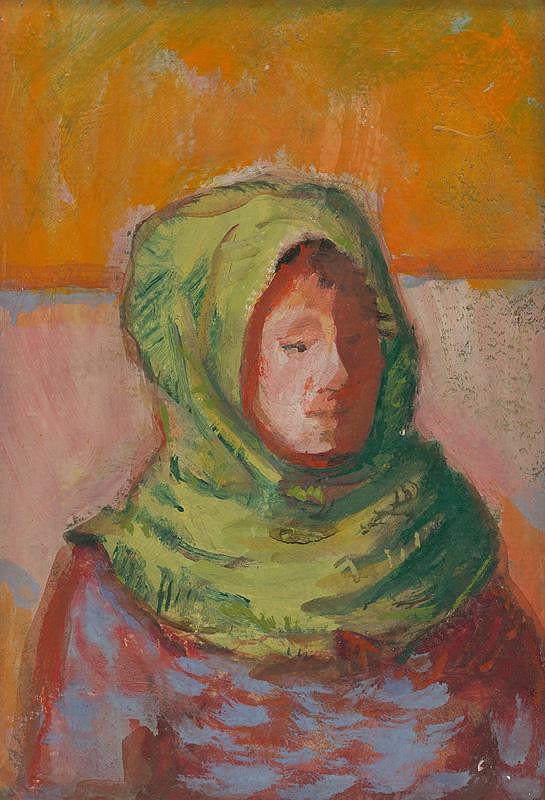 Ladislav Čemický - Žena v zelenej šatke