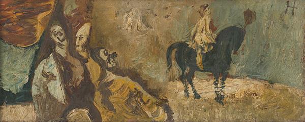 Vincent Hložník - Traja a jazdkyňa
