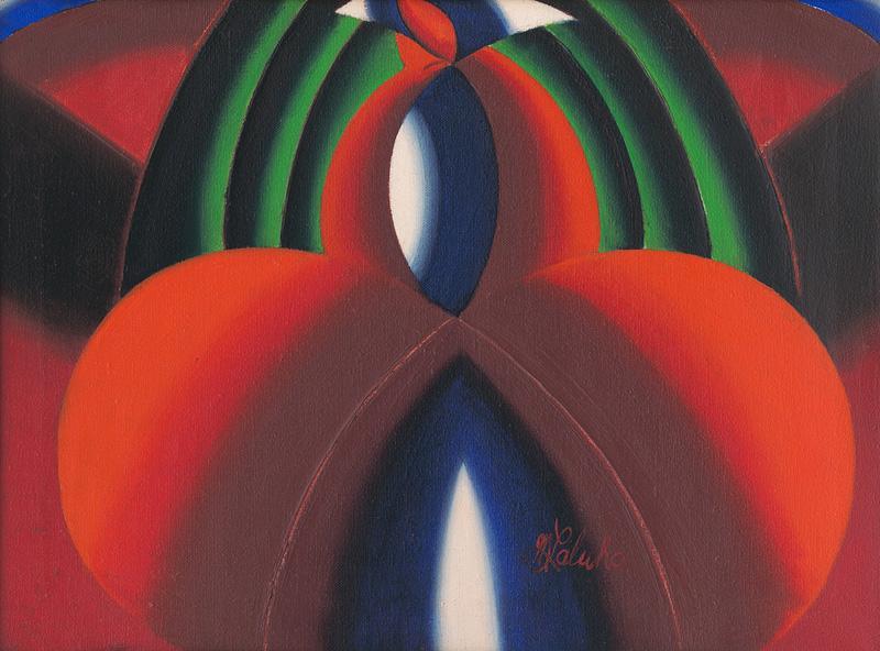 Milan Laluha – Žena v červenej sukni, 1970–1975, Oravská galéria