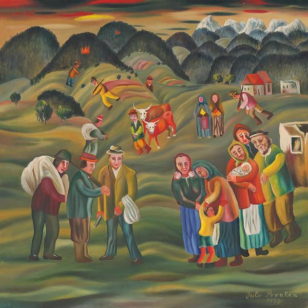 Július Považan – Odchod partizánov do hôr