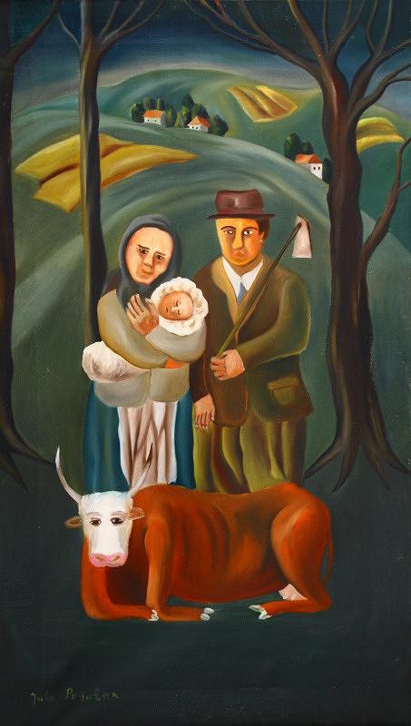 Július Považan - Chudobná rodina