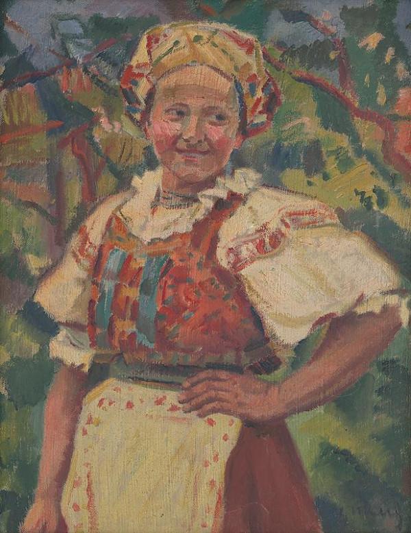Gustáv Mallý – Žena v kroji