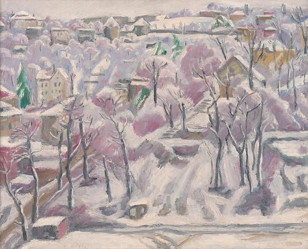 Ernest Zmeták - Pohľad z atelieru v zime
