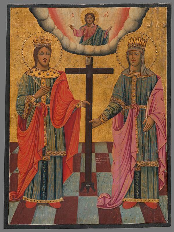 Neznámy autor – Konštantín a Helena(ikona)