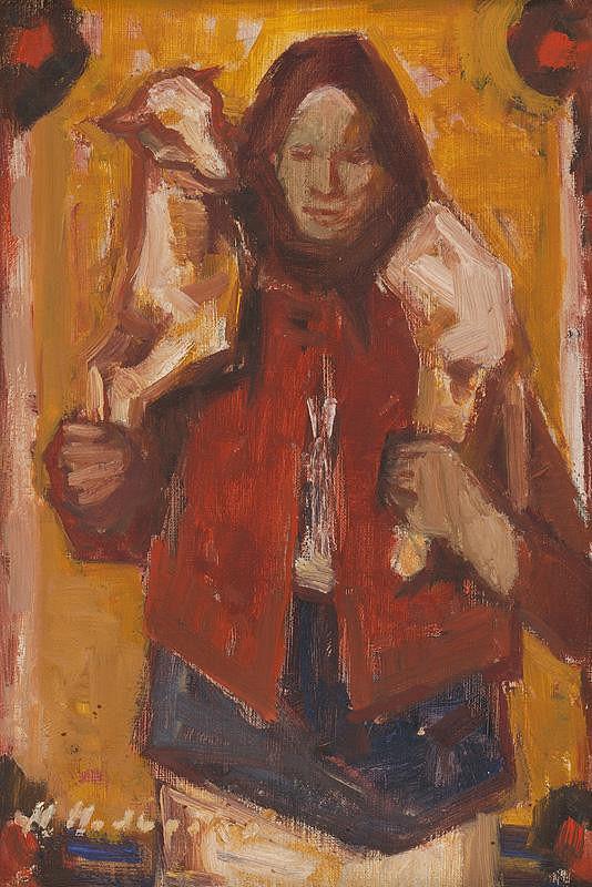 Mária Medvecká – Žena s jahniatkom