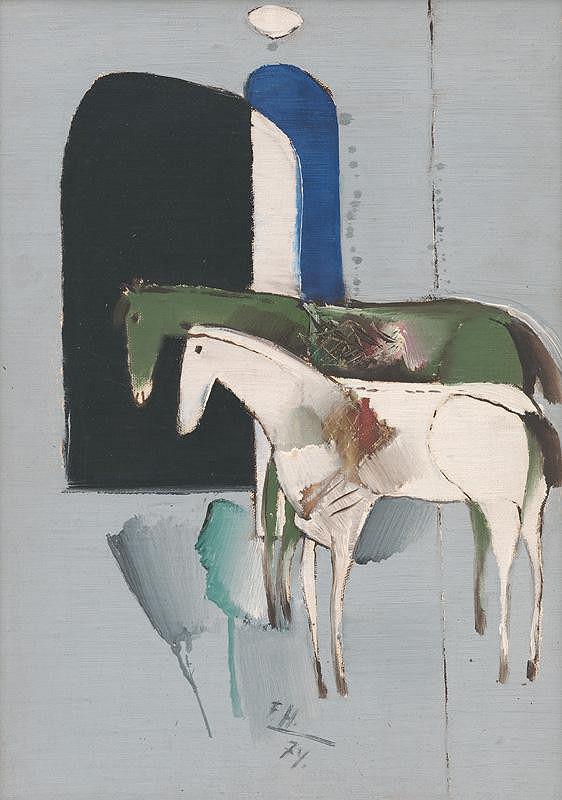 Ferdinand Hložník – Dva koníky