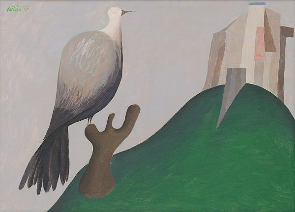 Milan Paštéka - Krajina s vtákom