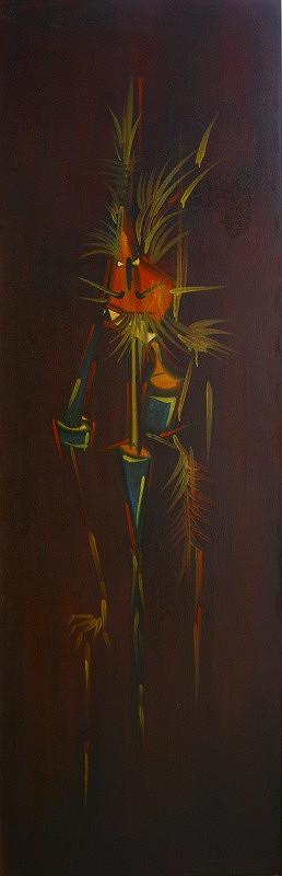 Karol Baron – Tvor v brnení-dvojstranný obraz