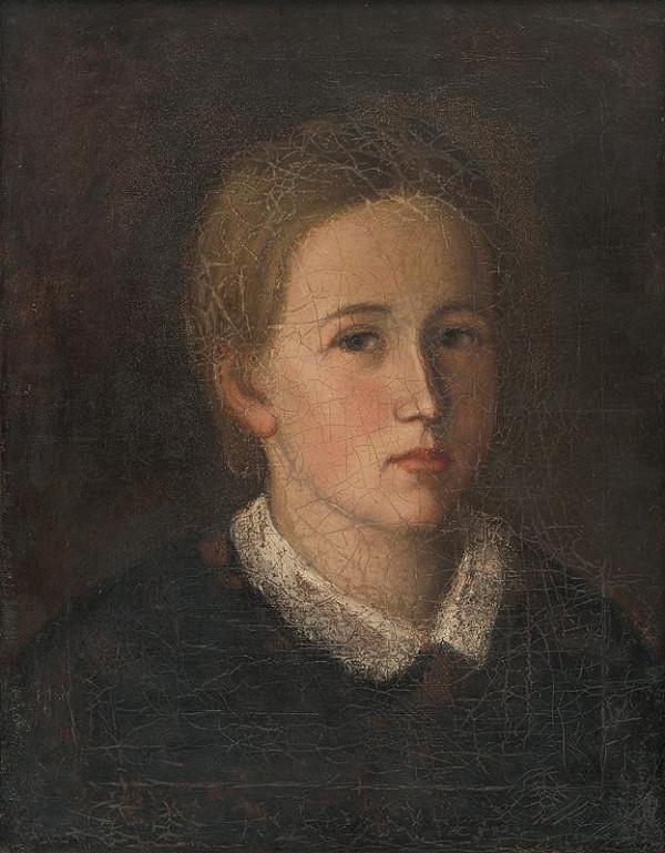 Slovenský maliar z 1. polovice 19. storočia – Portrét Hermíny Kubínyi