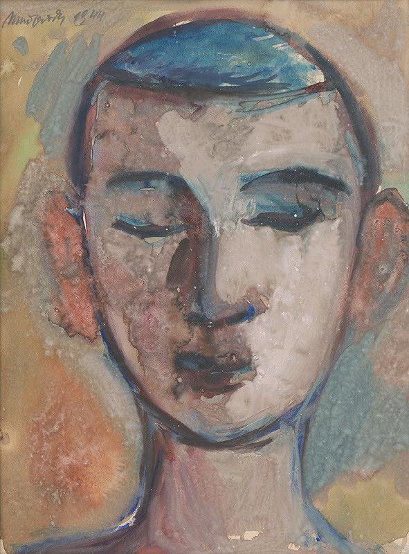 Ján Mudroch - Štúdia hlavy chlapca