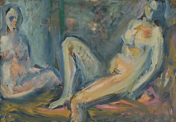Ján Mudroch - Štúdia dvoch ženských aktov