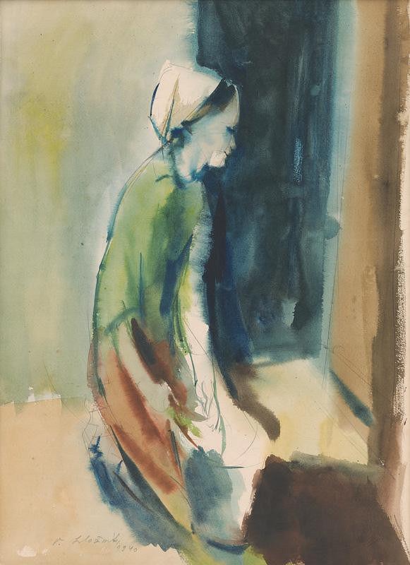 Vincent Hložník - Žena s vedrom