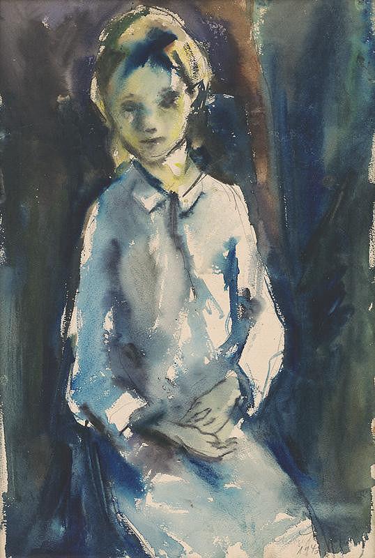 Vincent Hložník - Sediace dievča