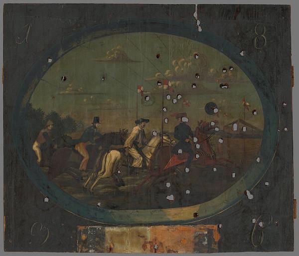 Slovenský maliar z 1. polovice 19. storočia - Strelecký terč