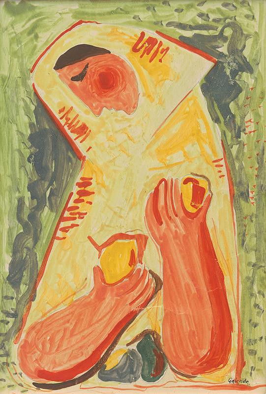Mikuláš Galanda – Žena s ovocím