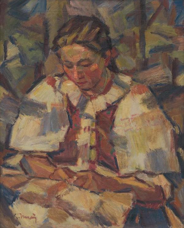 Gustáv Mallý - Žena v kroji