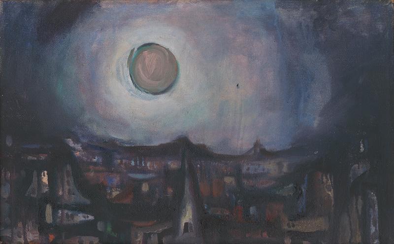 Viliam Chmel – Ružový mesiac nad mestom, 1946 – 1947, Oravská galéria