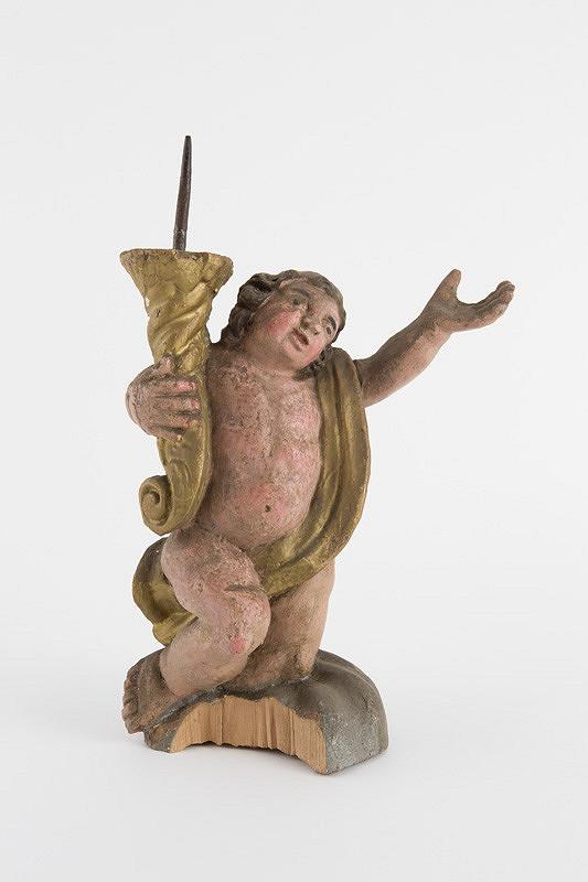 Slovenský rezbár z 2. polovice 18. storočia - Anjel - svietnik