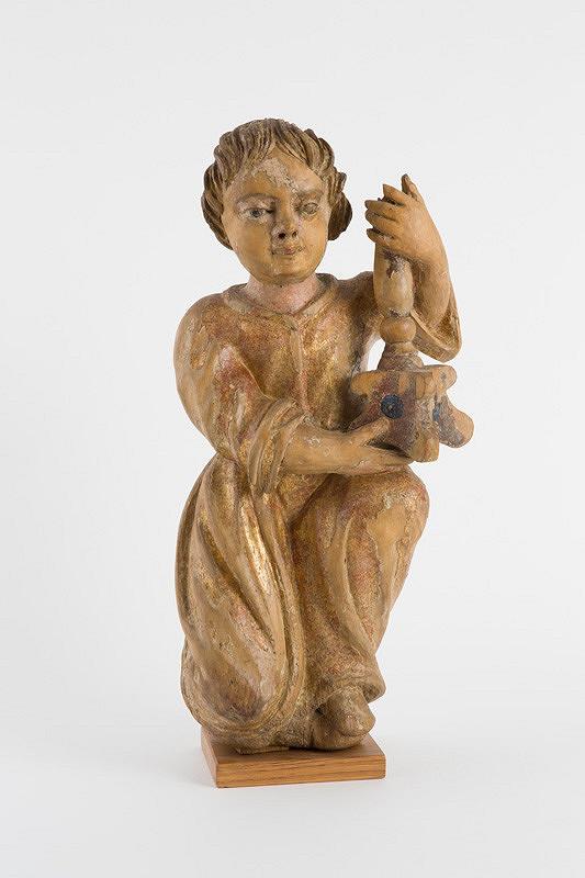 Slovenský rezbár z 18. storočia - Anjel so svietnikom